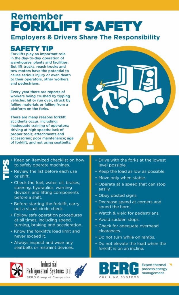 Safely Operating A Forklift Infographic Industrial